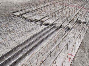 قیمت تیرچه بتنی طول ۵ متر بنیاد بتن