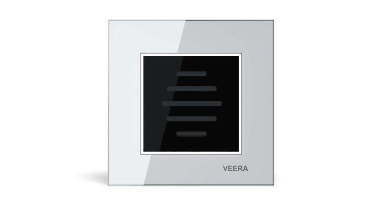 قیمت کلید زنگ شیشه ای سفید مشکی مدل امگا VEERA