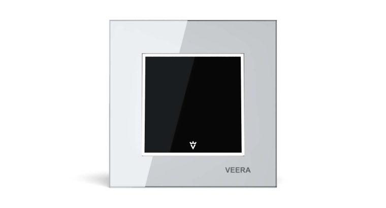 قیمت کلید یک پل شیشه ای مشکی سفید مدل امگا[VEERA]