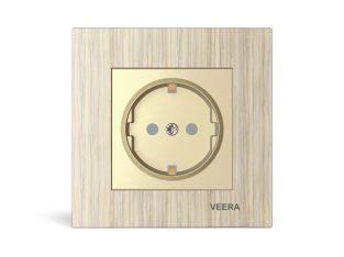 قیمت پریز محافظ دار مدل کریستال چوب افرا VEERA