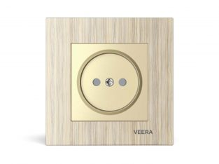 قیمت پریز برق پشت سرامیکی مدل کریستال چوب افرا VEERA