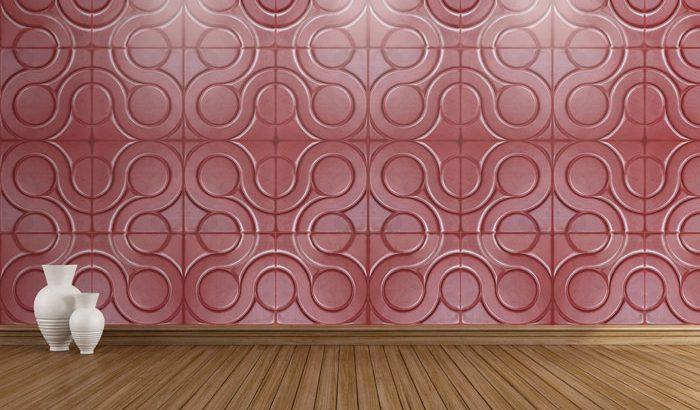قیمت دیوارپوش چرمی سه بعدی با طرح venis