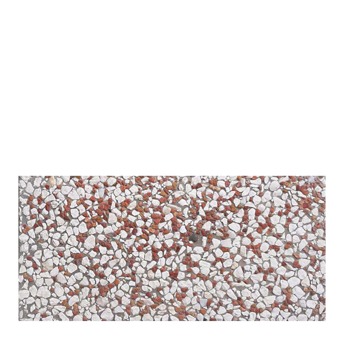 قیمت موزاییک واش بتن سنگ قرمز سفید۶۰*۳۰[تیشه]