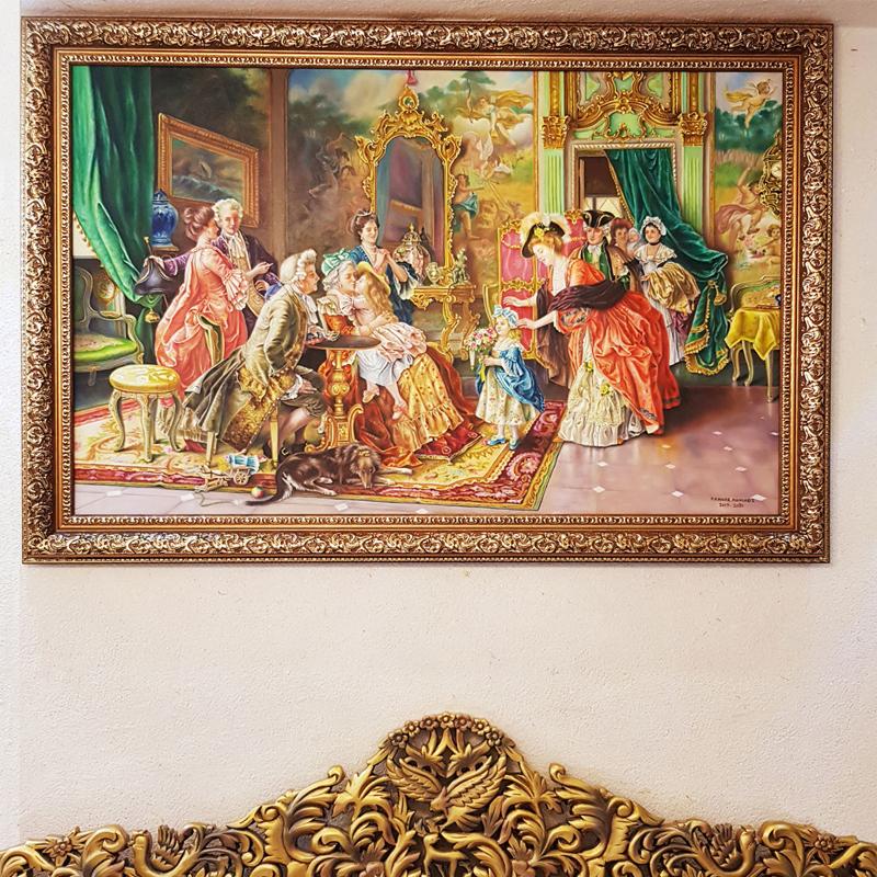 قیمت تابلو نقاشی رنگ روغن طرح مهمانی بزرگ
