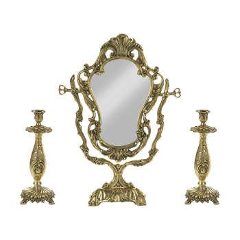 قیمت آینه و شمعدان کد ۰۰۱