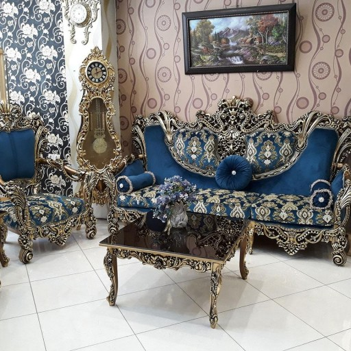 قیمت مبل سلطنتی استیل مدل مرجان ۹ نفره