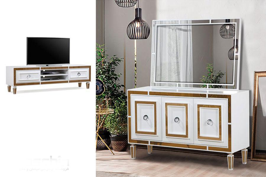 قیمت میز کنسول و آینه آلبرتا