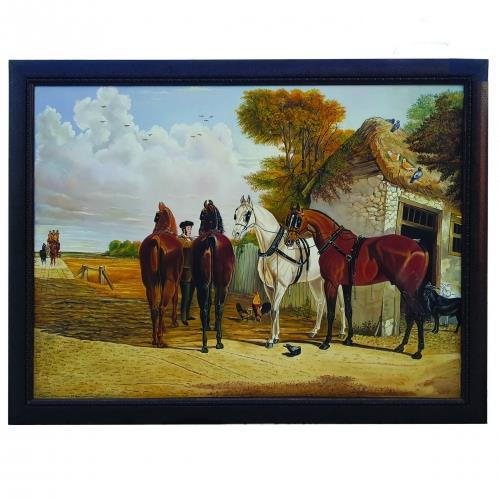 قیمت تابلو نقاشی رنگ روغن طرح اسب