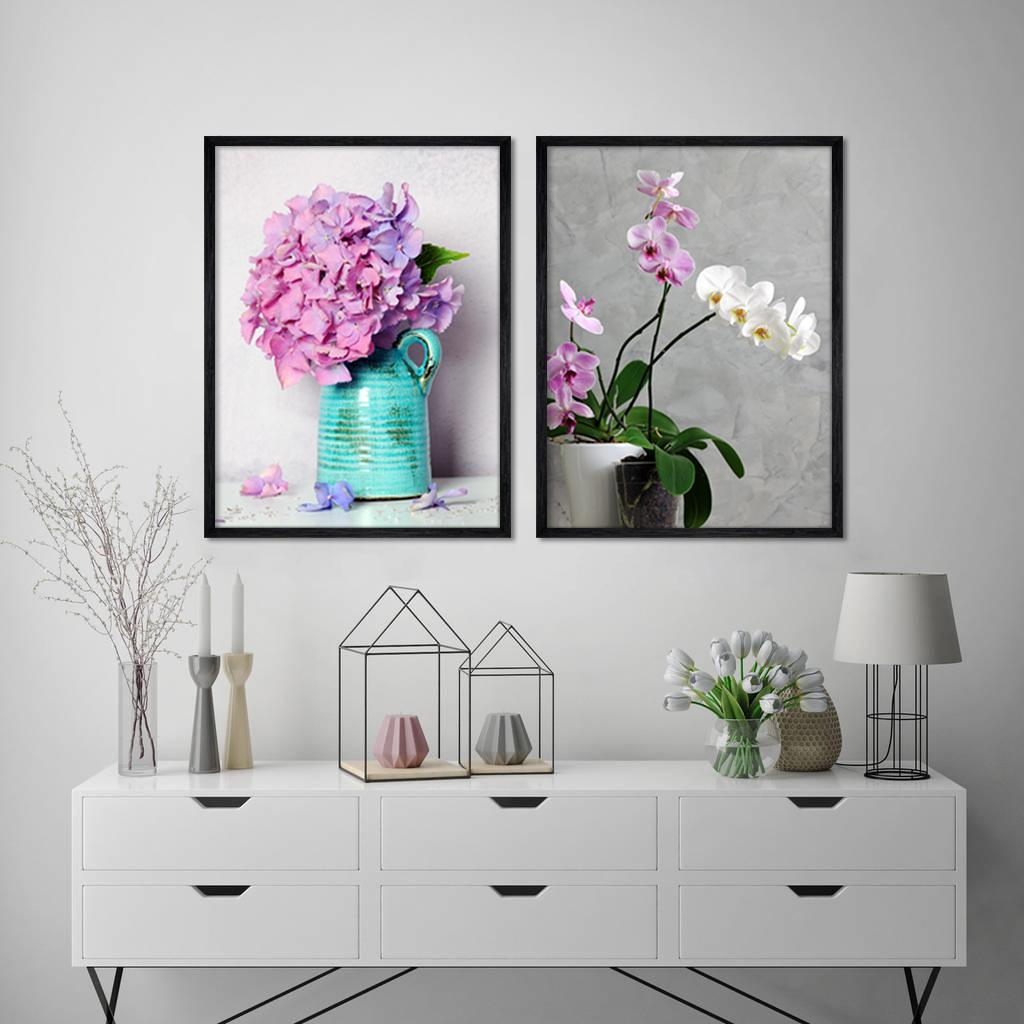 قیمت تابلو طرح گل و گلدان کد AX14201 مجموعه ۲ عددی