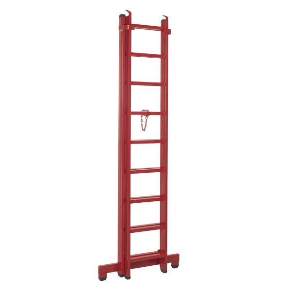 قیمت نردبان ۱۸ پله قائم مدل ۴ متری به همراه پایه