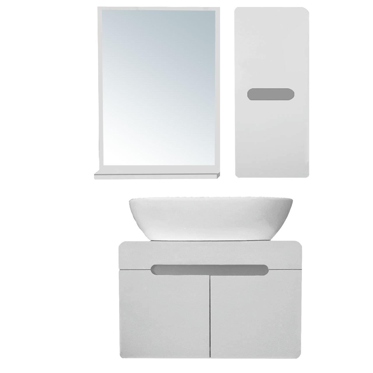 قیمت ست کابینت و روشویی مدل lu604005 به همراه آینه