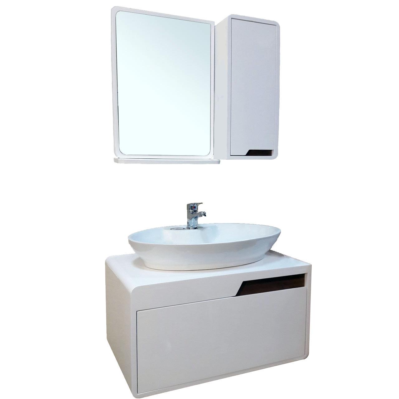 قیمت ست کابینت و روشویی مدل lu604001 به همراه آینه