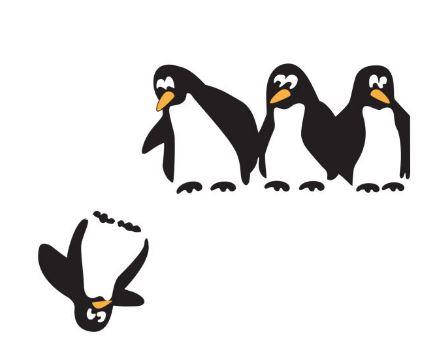 قیمت استیکر کلید پریز طرح پنگوئن ها